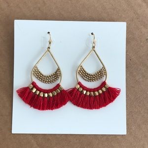 Jewelry - Red chandelier earings